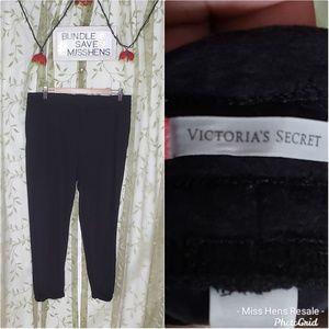 VICTORIA'S SECRET BLACK LOOSE FIT LOUNGE PANTS